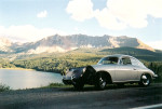 Alt text: 356B Porsche at Trout La,ke